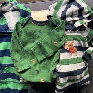 Carter's mix & match boy 🦌moose bundle lot